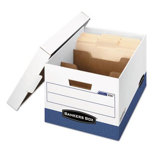 Banker Strength Storage Box, Letter, Locking Lid, 12/Carton (FEL0083601)
