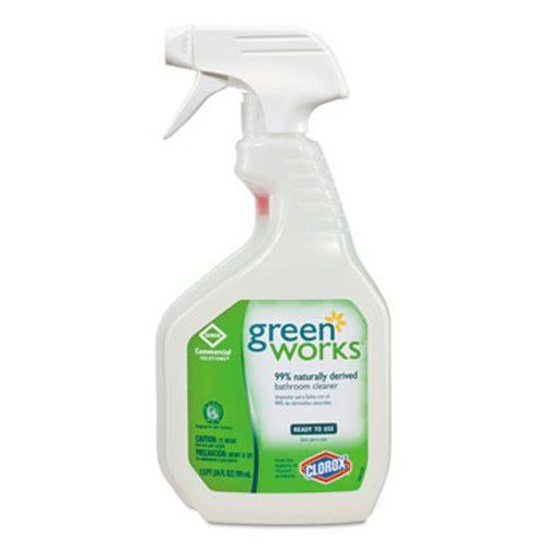 Green works bathroom cleaner 24 oz spray bottle clo00452 for Greenworks bathroom cleaner