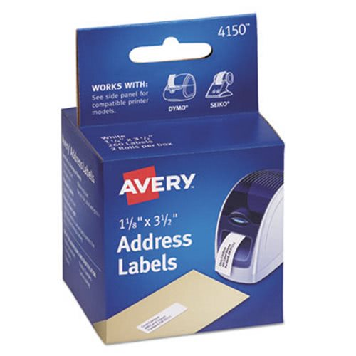 avery address labels 1 1 8 x 3 1 2 white 260 labels box ave4150