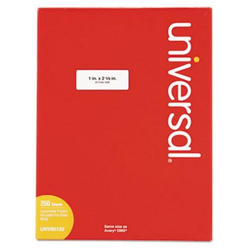 universal laser printer permanent labels 1 x 2 5 8 white 7500