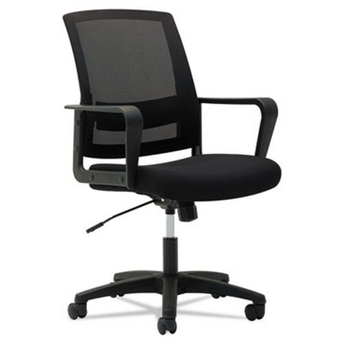 Admirable Oif Mesh Mid Back Office Chair Fixed Loop Arms Black Oifms4217 Ocoug Best Dining Table And Chair Ideas Images Ocougorg
