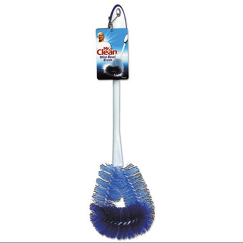 Mr. Clean 440430 Twisted Wire Toilet Bowl Brush, White, 3 Brushes  (BUT440430)