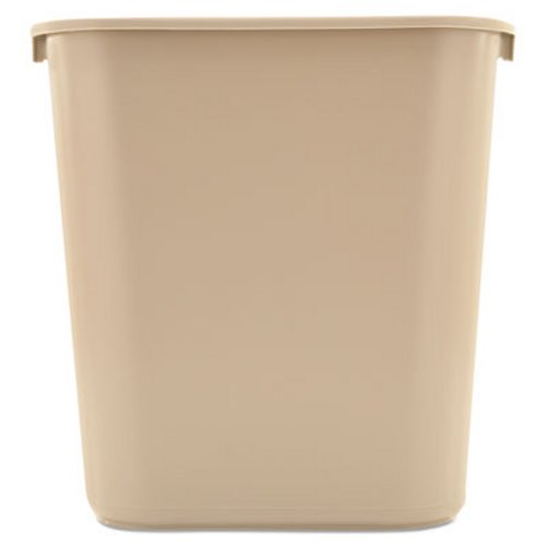 Rubbermaid 295600 7 Gallon Wastebasket Beige Rcp295600bg