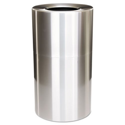 Atrium Round Open Top Indoor Trash Can, 35 Gallon RCP AOT35SAPL