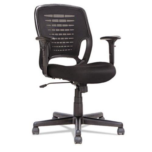 alera eikon series swivel tilt mesh task chair black arms base
