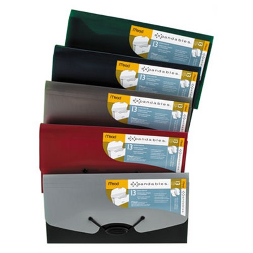 Letter Size Portable Mead 2 Pack 13 Pocket Expanding Accordion Folders