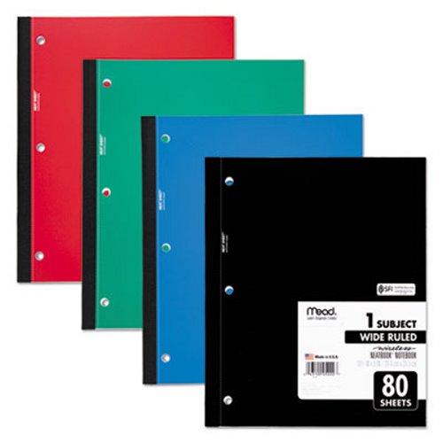 Mead Single Subject Notebook Wide Margin Rule 8 X 10 1 2 80 Sheets Mea05222