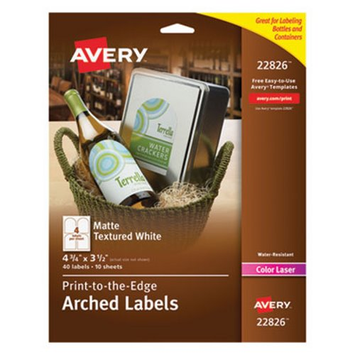 avery textured arched easy peel labels 4 3 4 x 3 1 2 white 40