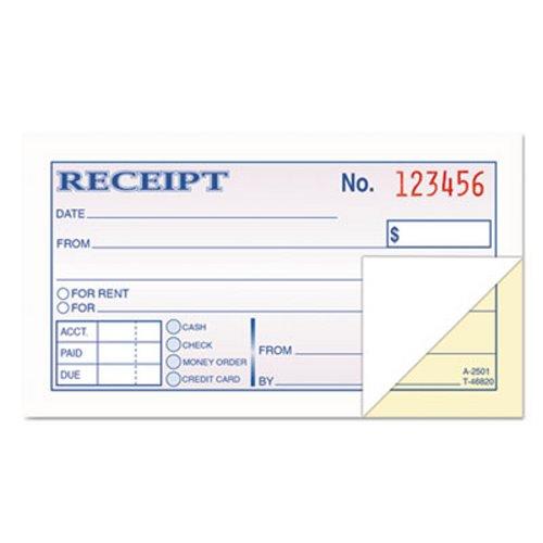 tops money and rent receipt books 2 part carbonless 50 sets top46820