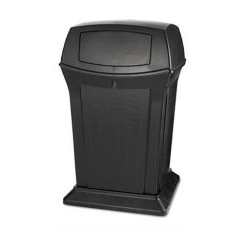 Rubbermaid 917188 Ranger 45 Gallon 2-Door Trash Can Black (RCP917188BLA)