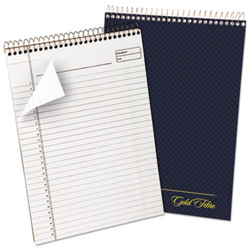 Ampad Gold Fibre Wirebound Legal Pad Letter White Navy