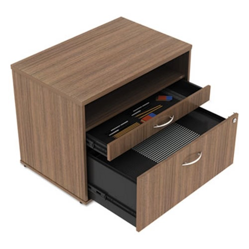 Alera Open Office Series Low File Cabinet Credenza 29 1 2x19 8x22 7 8 Walnut Alels583020wa
