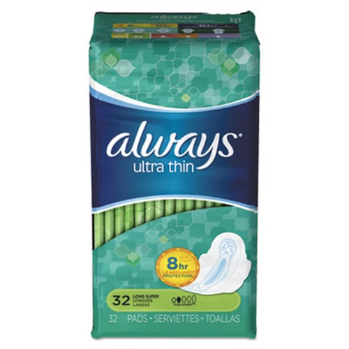 Always Ultra Thin Pads with Wings, Super Long, 192 Pads (PGC95251)
