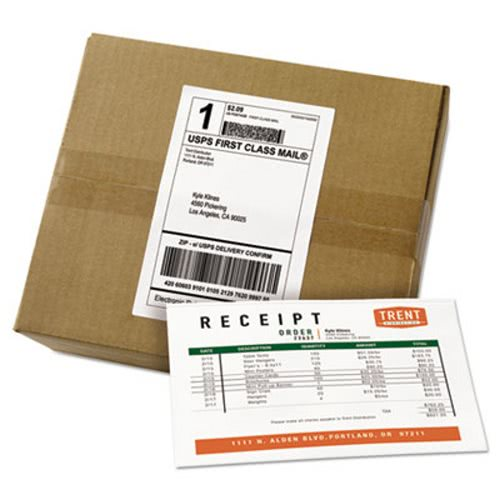 avery avery paper receipt white shipping labels 500 labels ave27902