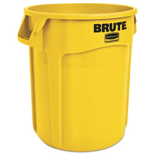Rubbermaid 2620 Brute Vented 20 Gallon Trash Can Yellow