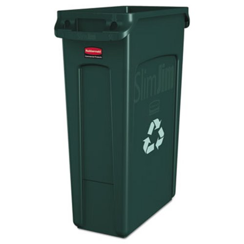 2-Stream 46-Gallon Blue Rubbermaid Commercial 1792339 Glutton Recycling Station