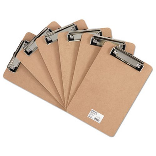 universal hardboard clipboard with low profile clip unv05561