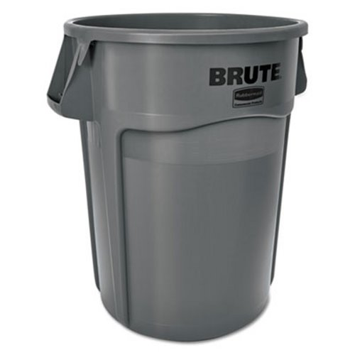 Rubbermaid 2655 Brute 55 Gallon Trash Container, Gray (RCP 2655 GRA)