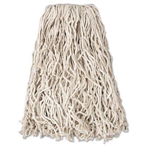 Rubbermaid Commercial Economy Cut End Cotton Wet Mop Head 20oz 1 Band White 12 Carton Rcpv117