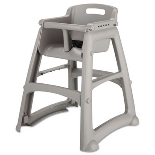 Rubbermaid 7806 Sturdy Chair High Chair, Platinum (RCP 7806 08 PLA)