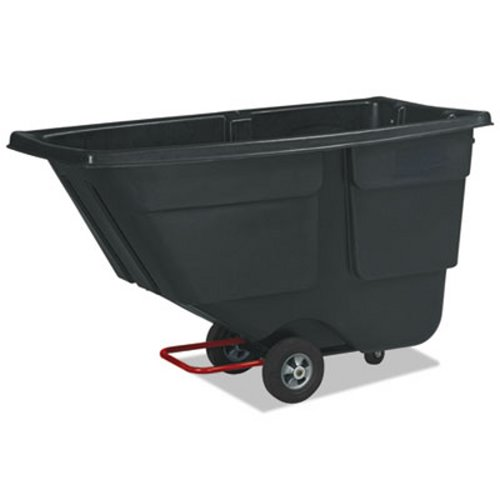 Rubbermaid 1 Cubic Yard Tilt Truck 600lb Capacity Black