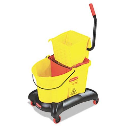 c07738ecbf0 Rubbermaid Dual-Water Mop Bucket Wringer RCP 7680 YEL