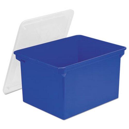 Storex Plastic File Storage Box w/Snap-On Lid Blue/Clear (STX61554U01C)  sc 1 st  Clean It Supply & Storex Plastic File Tote Storage Box Letter/Legal Snap-On Lid ...