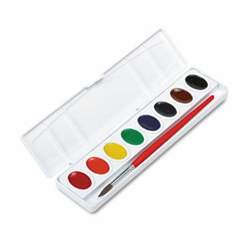 prang professional watercolors 8 assorted colors set oval pans