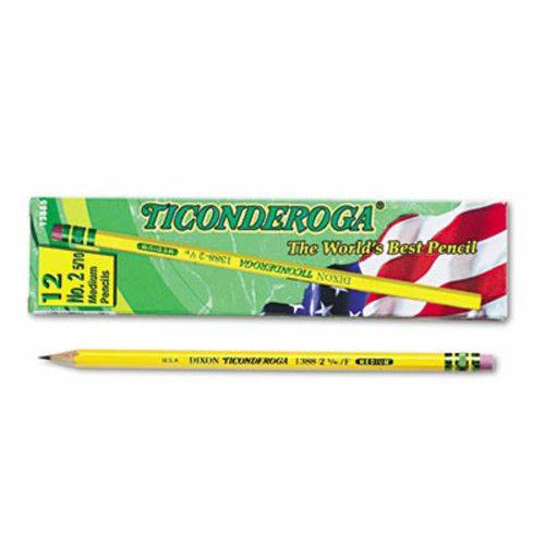 Black Lead Ticonderoga No 2.5 Woodcase Pencils Yellow # 2.5 Pencil Grade