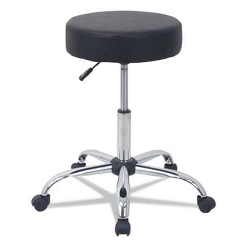 Sensational Alera Height Adjustable Lab Stool Chrome Base Black Pu Aleus4716 Cjindustries Chair Design For Home Cjindustriesco