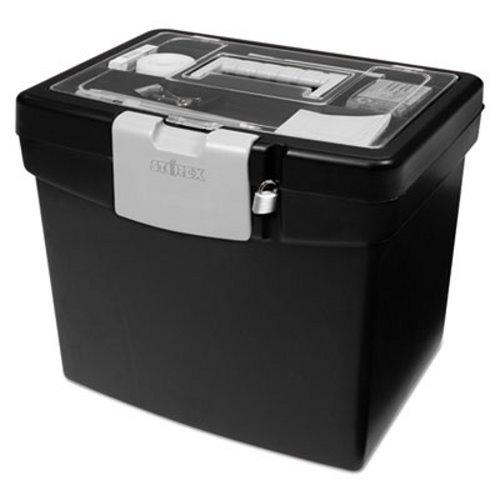 X Portable File Box W Lg Organizer Lid 13 1 4 10 7 8 11 Stx61504u01c
