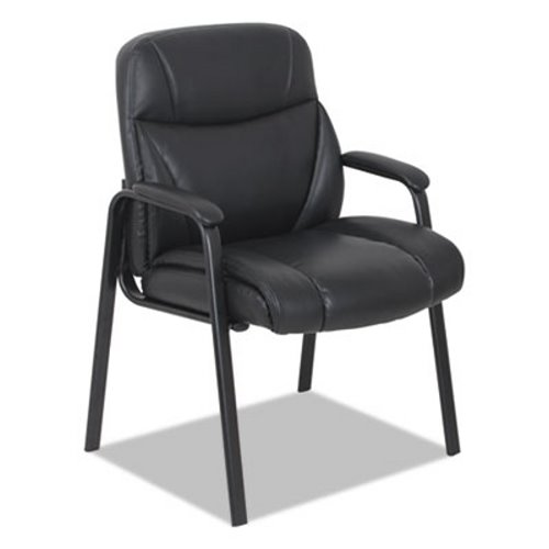 Superbe Alera Leather Guest Chair, Black (ALEVN4319)