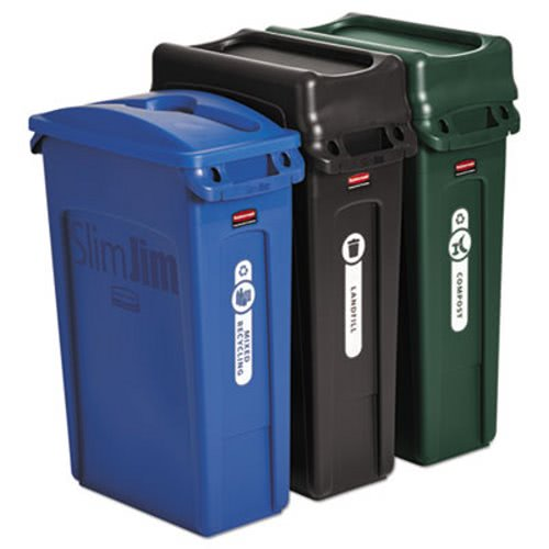 Rubbermaid Slim Jim Recycling Container Kit Rcp1998897