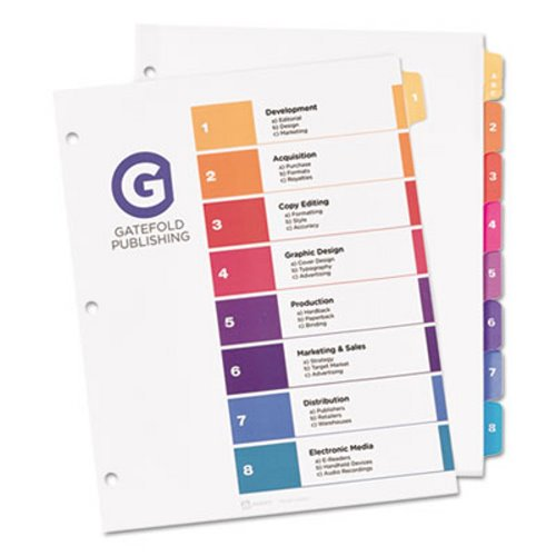 avery ready index table of contents dividers w sub dividing tabs