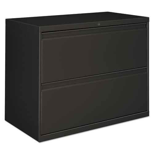 Alera 2 Drawer Lateral File Cabinet 30w X 28 38h Charcoal Alelf3029cc