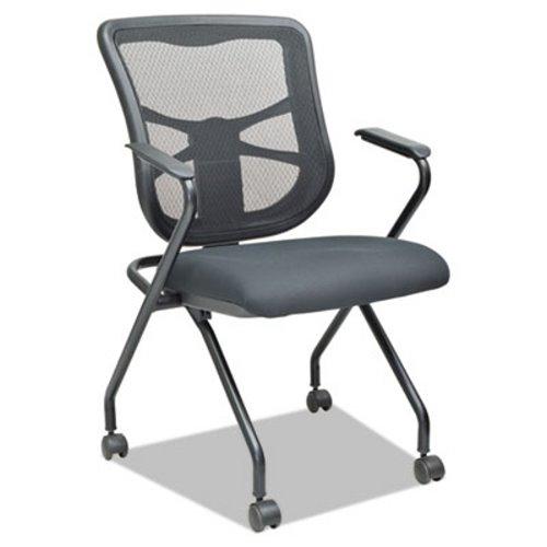 Bon Alera Elusion Mesh Nesting Chairs, Black, 2 Chairs (ALEEL4914)