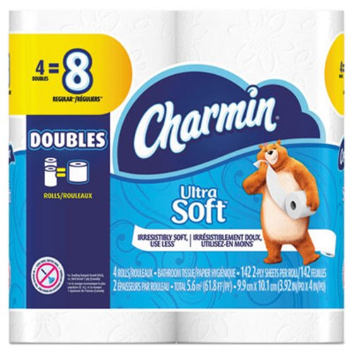 Charmin 94051 Standard 2 Ply Toilet Paper Rolls 4 PGC13258PK