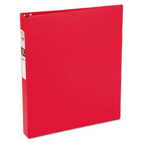 avery economy round ring reference binder 1 capacity red ave03310