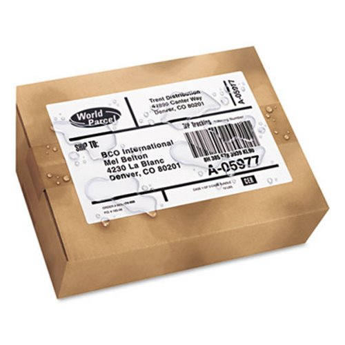 avery 5526 weatherproof shipping labels 5 1 2 x 8 1 2 white ave5526