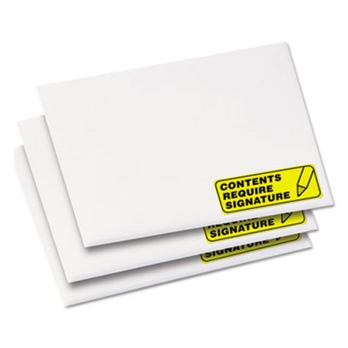 avery high visibility laser labels 1 x 2 5 8 neon yellow 750 pack