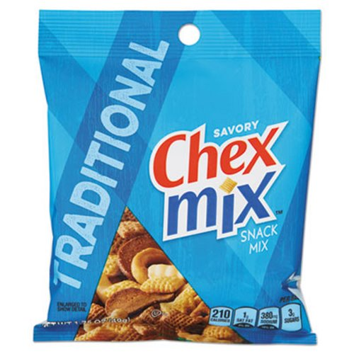 Chex Mix Savory Snack Traditional 42 Bags Gnm1160588