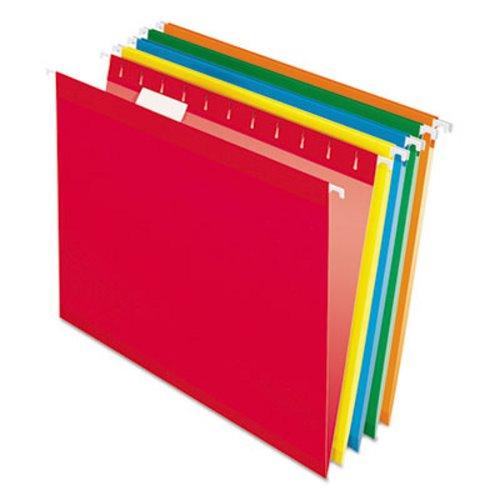 Pendaflex Reinforced Hanging File Folders, Letter, Brites, 25/Bx  (PFX415215ASST)