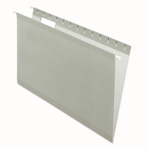 Gray 1//5 Tab Pendaflex Reinforced Hanging Folders 25//Box Legal