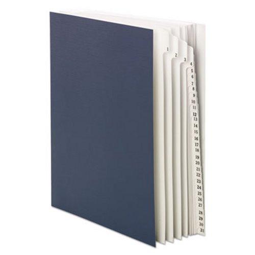 Smead Desk File Sorter, Top Tab, Daily Index, Dark Blue, 1/EA (SMD89294)