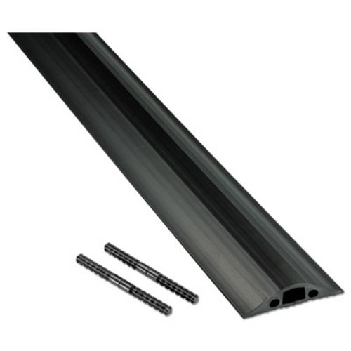 "DLNCC1 Black 72/"" x 2 1//2/"" x 1//2/"" D-line Light Duty Floor Cable Cover"