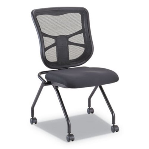 Phenomenal Alera Elusion Mesh Nesting Chairs Black Seat 2 Chairs Aleel4915 Machost Co Dining Chair Design Ideas Machostcouk