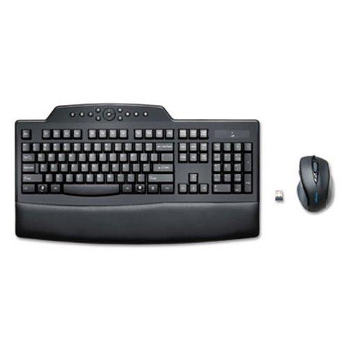Black Wireless keyboard with multiple tilt options and 30-foot range Wireless - KENSINGTON Pro Fit Comfort Desktop Set