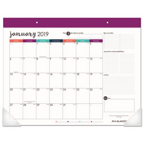 at a glance harmony desk pad 22 x 17 adult coloring 2019 aagd6099704