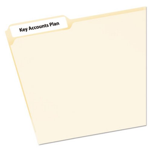 Avery File Folder Labels on Mini-Sheets, 2/3 x 3-7/16, White, 300/Pack  (AVE2181)
