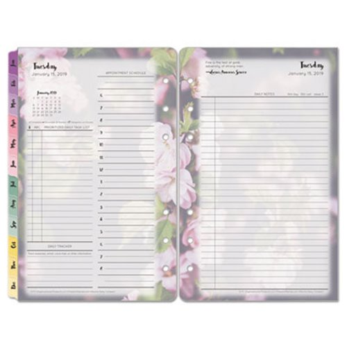 franklincovey blooms dated daily planner refill fdp35438